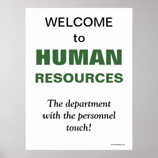 Humorvolle Slogan-Personal-Abteilung Poster