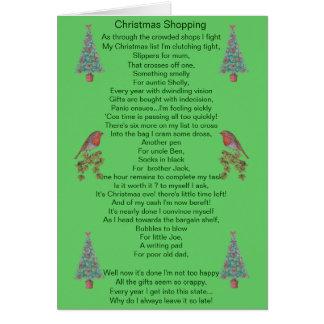 humorvolle Weihnachtsgedichtrotkehlchen- und Grußkarte