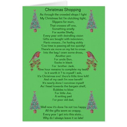 humorvolle Weihnachtsgedichtrotkehlchen- und Karte