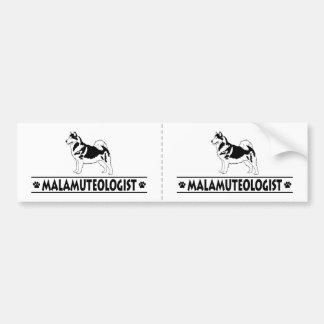 Humorvoller alaskischer Malamute Autoaufkleber