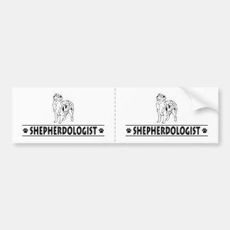 Humorvoller australischer Miniaturschäfer Auto Sticker
