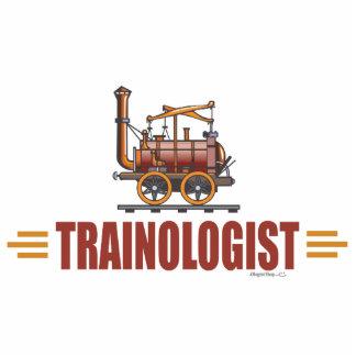 Humorvoller Eisenbahn-Zug Freistehende Fotoskulptur