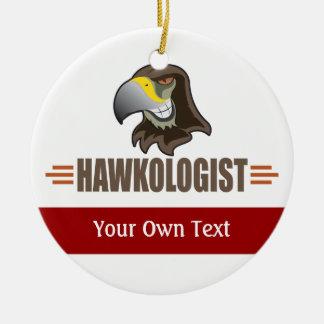 Humorvoller Falke feilbietet Vogel-Team Keramik Ornament