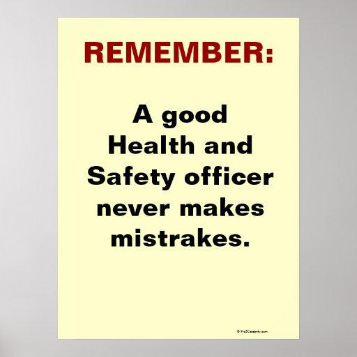 Humorvoller Gesundheits-und Sicherheits-Slogan Poster
