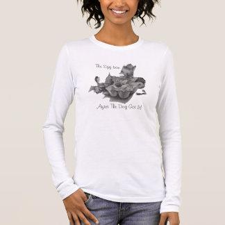 humorvoller noch Lebenbleistift, der Langarm T-Shirt