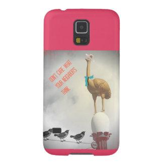 Humorvoller Strauß-Vogel-Telefon-Kasten-lustiges Samsung S5 Cover
