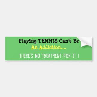 Humorvoller Tennis-Autoaufkleber Autoaufkleber