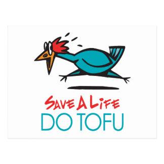 Humorvoller Tofu-Entwurf Postkarte
