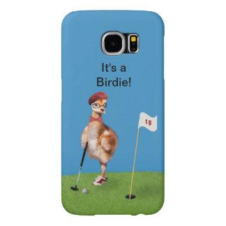 Humorvoller Vogel, der Golf, kundengerechten Text