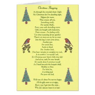 humorvoller Weihnachtsgedichtrotkehlchen- und Grußkarte