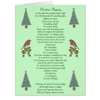 humorvoller Weihnachtsgedichtrotkehlchen- und Karte