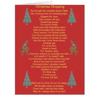 Humorvoller Weihnachtsgedichtrotkehlchen- und Grußkarten