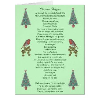 humorvoller Weihnachtsgedichtrotkehlchen- und Riesige Grußkarte