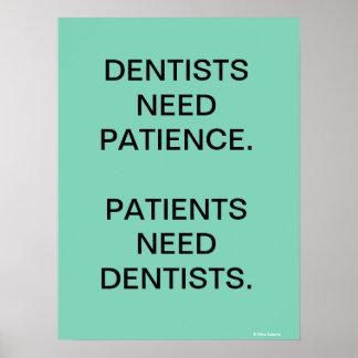 Humorvoller Zahnarzt/zahnmedizinisches Poster