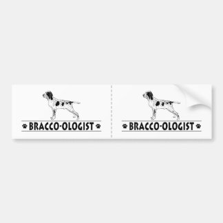 Humorvolles Bracco Italiano Auto Sticker