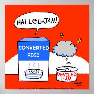 Humorvolles christliches Küchen-Plakat Poster