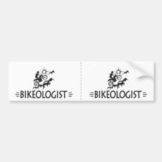 Humorvolles Gebirgsradfahren Autoaufkleber