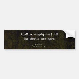 Humorvolles geistreiches Zitat William Autoaufkleber