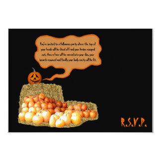 Humorvolles Halloween Personalisierte Einladungskarte