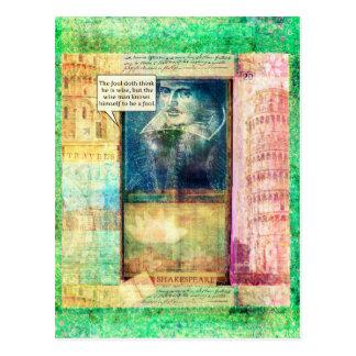 Humorvolles Klugheitszitat Shakespeare Postkarte