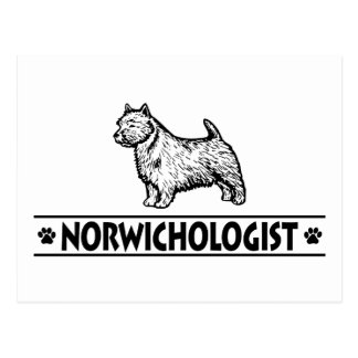 Humorvolles Norwich Terrier Postkarte