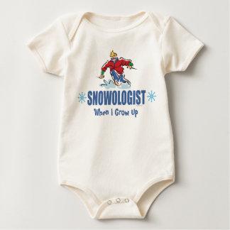 Humorvolles Schnee-Skifahren Baby Strampler