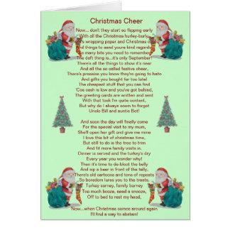 humorvolles Weihnachtsgedicht Sankt und Karte
