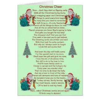 humorvolles Weihnachtsgedicht Sankt und Karten