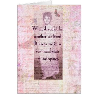 Humorvolles Zitat durch Jane Austen Karte