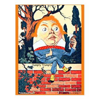 Humpty Dumpty Donald Trump geändertes Vintages Postkarte
