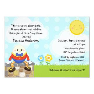 Humpty Dumpty Kinderzimmer-Reim-Baby-Dusche 12,7 X 17,8 Cm Einladungskarte