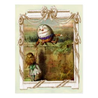 Humpty Dumpty und Alice Postkarten