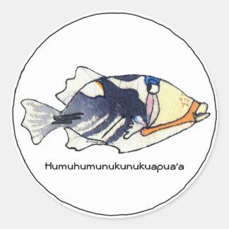Humuhumunukunukuapua'a Fisch-Aufkleber Runder Aufkleber