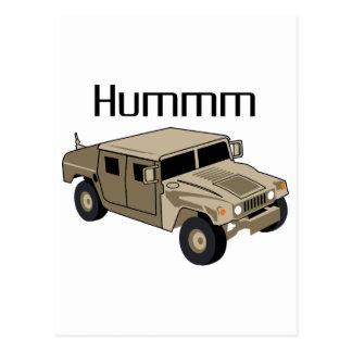 Humvee Hummm Postkarte