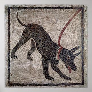 Hund auf einer Leine, von Pompeji Poster