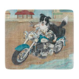 Hund auf Motorrad-Schneidebrett Schneidebrett