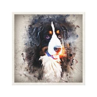 Hund, Bernhardiner - Saint Bernard Dog Leinwanddruck