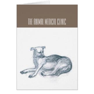 Hund. Bleistiftzeichnung Grußkarte