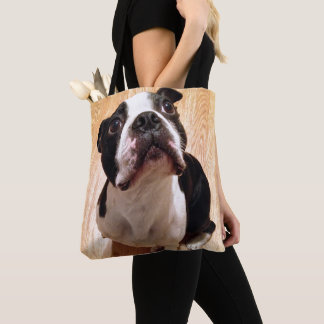 Hund Bostons Terrier Tasche