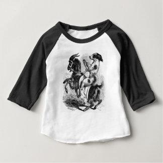 Hund, der eine Ziege reitet Baby T-shirt