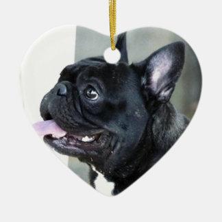 Hund der französischen Bulldogge Weihnachtsbaum Ornament