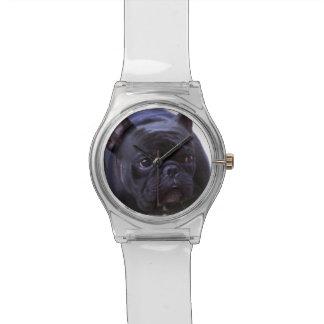 Hund der französischen Bulldogge Uhr