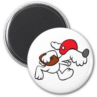 Hund, der Fußball spielt Runder Magnet 5,7 Cm