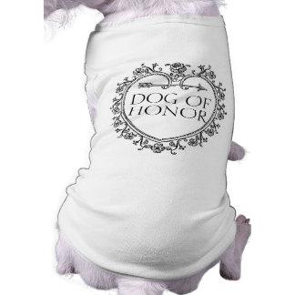 Hund Ehrendes noblen lustigen Ärmelfreies Hunde-Shirt