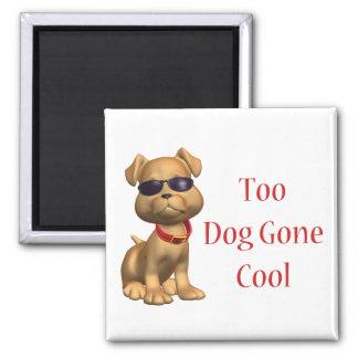 Hund gegangenes cooles Hündchen Quadratischer Magnet