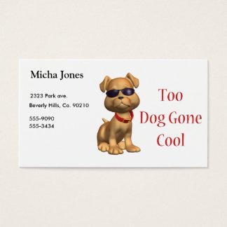 Hund gegangenes cooles Hündchen Visitenkarte