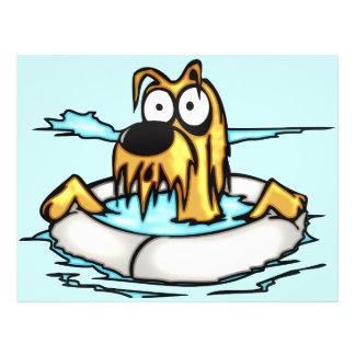 Hund im Lebensretter-Floss Flyer