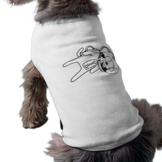 Hund im Raum T-Shirt