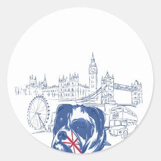 Hund im Vereinigten Königreich Runder Aufkleber