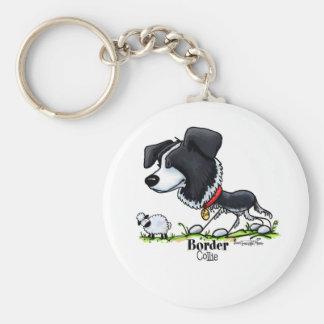 Hund in Herden leben - Border-Collie keychain Schlüsselanhänger